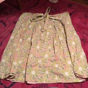 Bow front cotton skirt